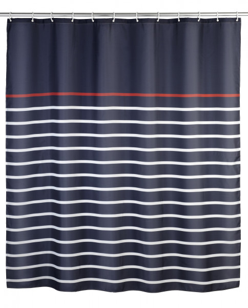 Duschvorhang Marine Blue, 180 x 200 cm waschbar