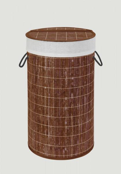 Wäschetruhe Bamboo Dunkelbraun Wäschekorb, 55 l