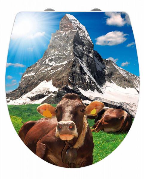 WC-Sitz Hochglanz Acryl Matterhorn Absenkautomatik, Fix-Clip Hygiene Befestigung
