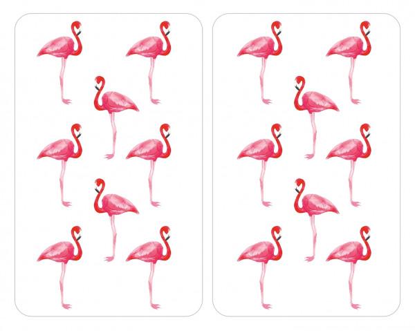 Herdabdeckplatten Universal Flamingo 2er Set, für alle Herdarten