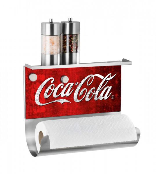 Magnet. Rollenhalter m. Ablage Coca-C ro