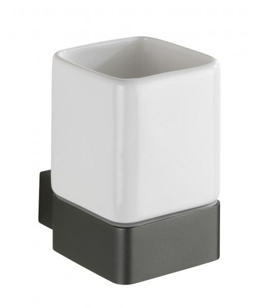 Zahnputzbecher Montella Aluminium & Keramik, Wandmontage