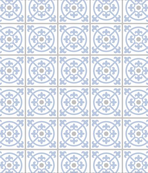 Glasrückwand Fliesen, blau 60x70 cm