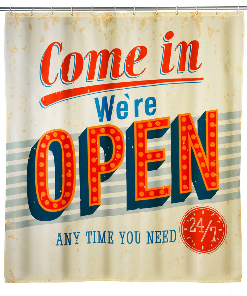 Anti-Schimmel Duschvorhang Vintage Open
