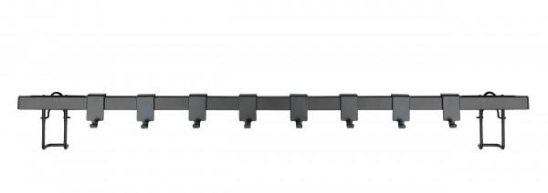 Hakenleiste Gala schwarz, 60 cm, 8 Haken