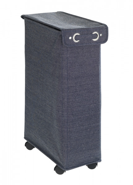 Wäschesammler Prime Corno mit Deckel, blau