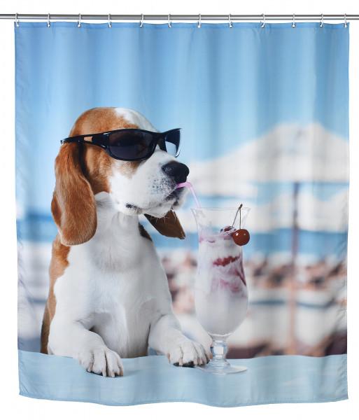 Duschvorhang Cool Dog Polyester, 180 x 200 cm, waschbar