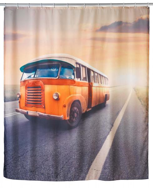 Anti-Schimmel Duschvorhang Vintage Bus