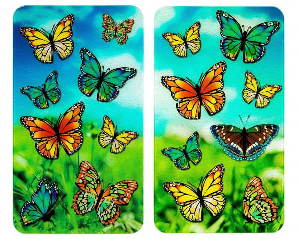 Abdeckpl. Univ. 2er Schmetterlinge