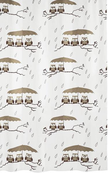 Kleine Wolke Duschvorhang Eulen, 180 x 200 cm