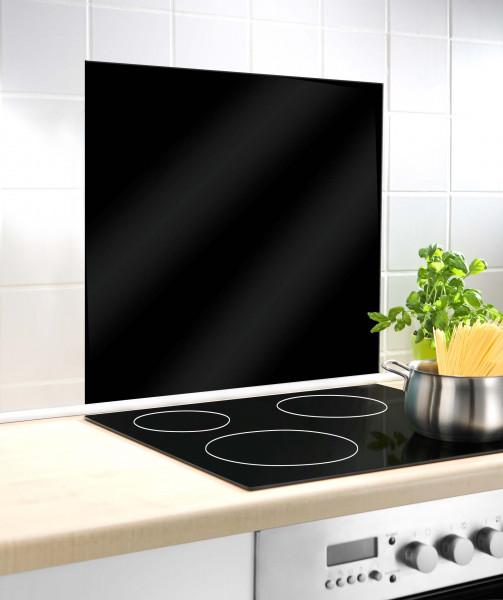 Glasrückwand Schwarz 60 x70 cm