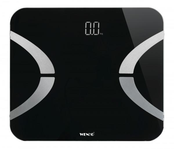 WENKO Analysewaage LED BT 30x26cm, schwarz