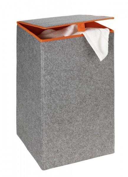 Wäschesammler Filz Uno Orange Wäschekorb, 55 l