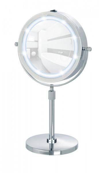LED Kosmetikspiegel Lumi Standspiegel, 5-fach Vergrößerung