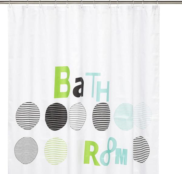 Kleine Wolke Duschvorhang Bathroom, 180 x 200 cm, Mint