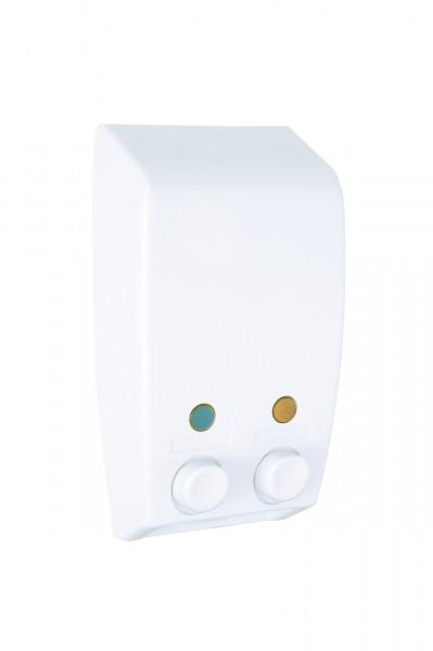 2-Kammer Seifenspender Varese weiß