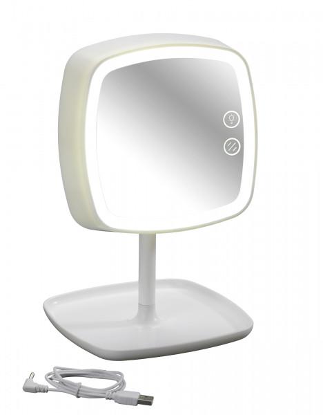 LED Kosmetikspiegel & Tischleuchte Ostia 5-fach Vergrößerung