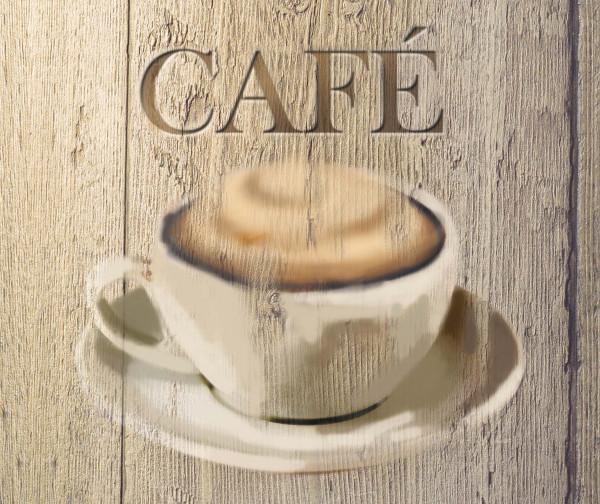 Glasrückwand Café