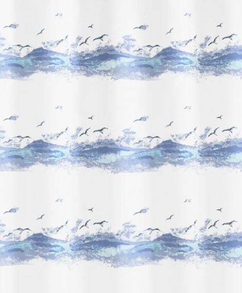 Kleine Wolke Duschvorhang Seaside, 180 x 200 cm, krokusblau