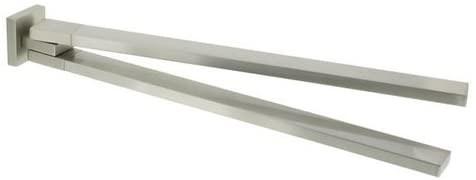Tiger Items Doppel-Handtuchhalter, Edelstahl gebürstet, 50 x 50 x 463 mm