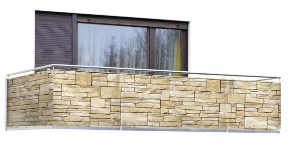 WENKO Balkon-Sichtschutz Mauer