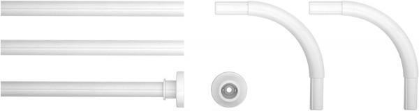 Bar Universal-Duschstange abgewinkelt , Metall, Weiß, 2x 2x 90cm