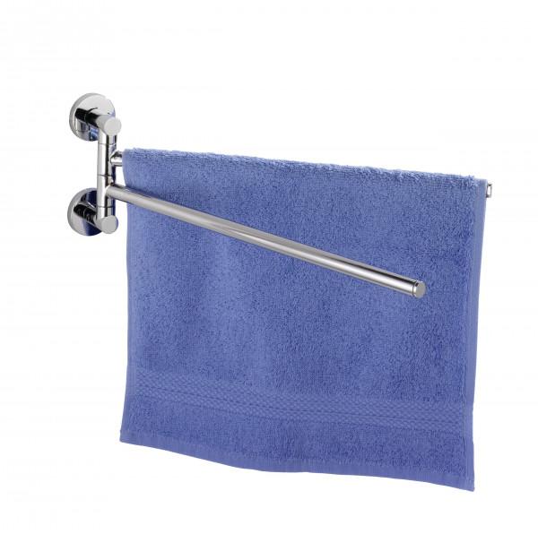WENKO Handtuchstange Edelstahl Handtuchhalter ohne bohren Handtuchständer wand