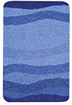 Miami Badteppich, Polyacryl, blau, 65 x 115 cm