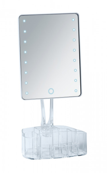 LED Standspiegel mit Organizer, Trenno