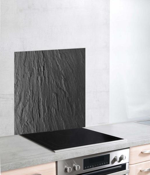 Glasrückwand Schiefer 60 x70 cm