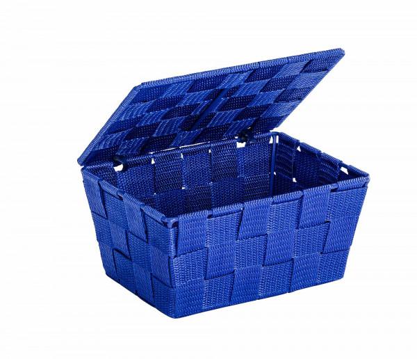 Aufbewahrungskorb mit Deckel Adria Blau