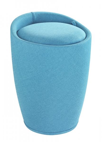 Hocker Candy Turquoise Leinenoptik Badhocker, mit abnehmbarem Wäschesack
