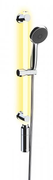 LED Duschstange 74 cm warmweiß SET