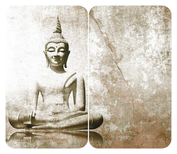 Herdabdeckplatte Universal Buddha 2er Set, für alle Herdarten