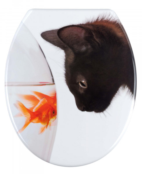 WENKO WC-Sitz Fish & Cat, Duroplast
