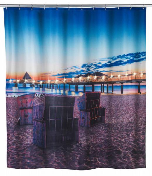 LED Duschvorhang Usedom,180 x 200 cm waschbar