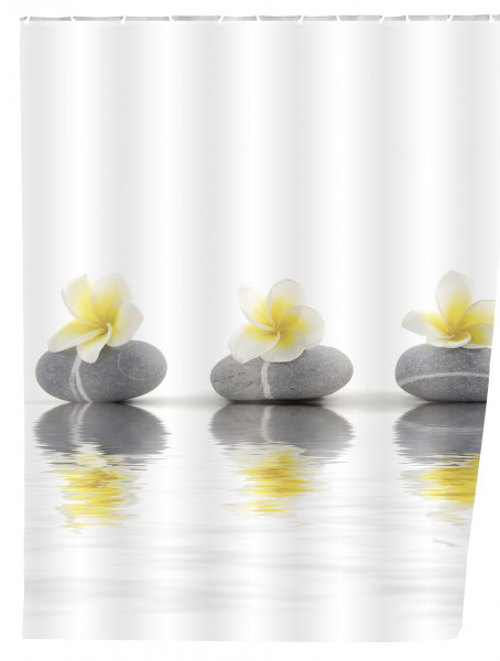 Duschvorhang, Stones with Flower 180x200
