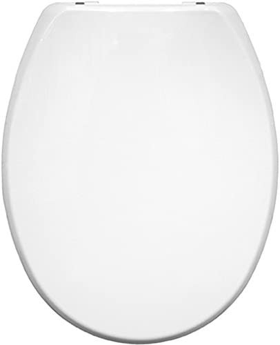 WC Sitz thermoplastisch, mit verchromten Scharnieren, Weiß