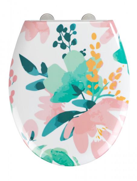 Premium WC-Sitz Flowery Duroplast, mit Absenkautomatik