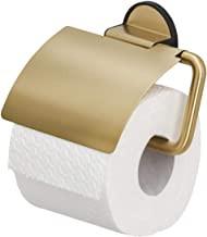 Tiger Tune Toilettenpapierhalter mit Deckel, Messing gebürstet