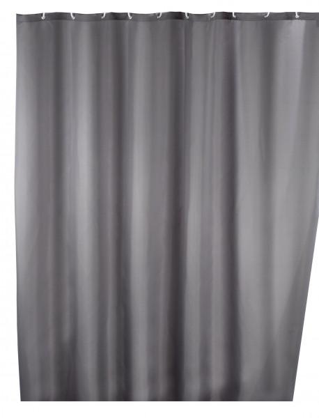 Anti-Schimmel Duschvorhang Uni Grey, 180 x 200 cm waschbar