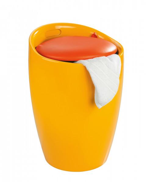 Hocker Candy Orange Badhocker, mit abnehmbarem Wäschesack