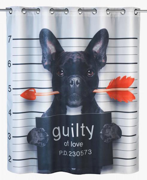 Duschvorhang Guilty Dog, antischimmel