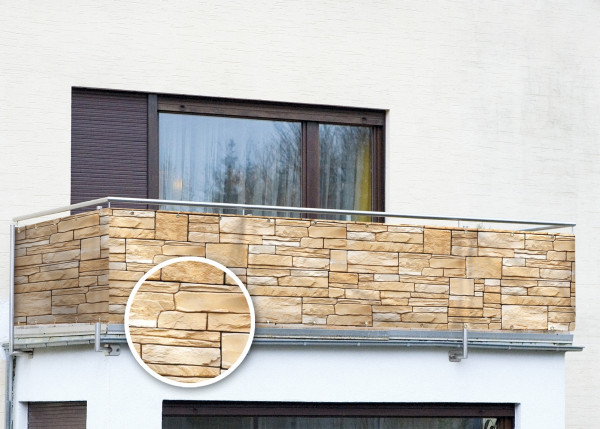 Balkonsichtschutz Mauer