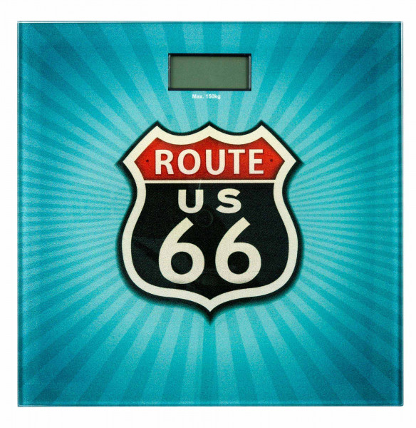 Badwaage Vintage Route 66 LCD-Display