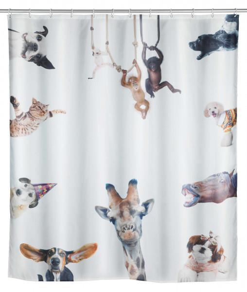 Duschvorhang Friends Polyester, 180 x 200 cm, waschbar