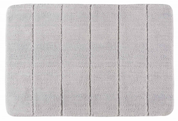 Badematte Steps hellgrau, 60 x 90 cm, Micropoly