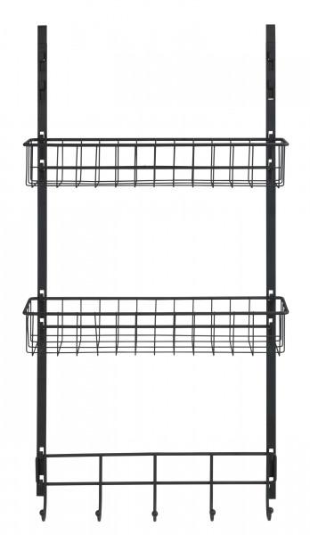 Türregal Schwarz 39x10x75 cm