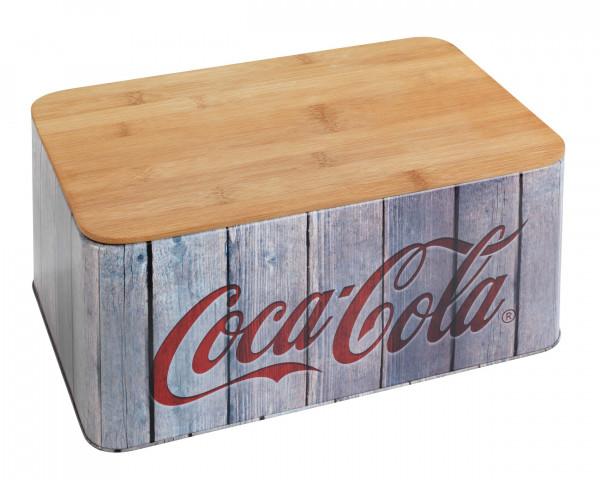 Brotkasten Coca-Cola Wood aus Bambus