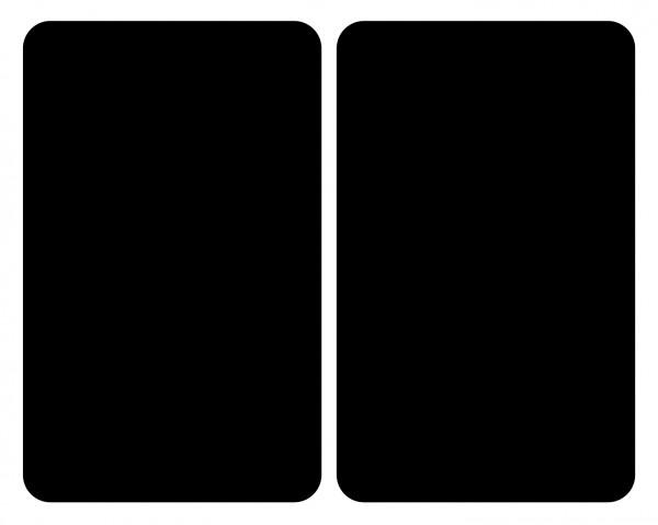 WENKO Glasabdeckplatten Universal Schwarz 2er